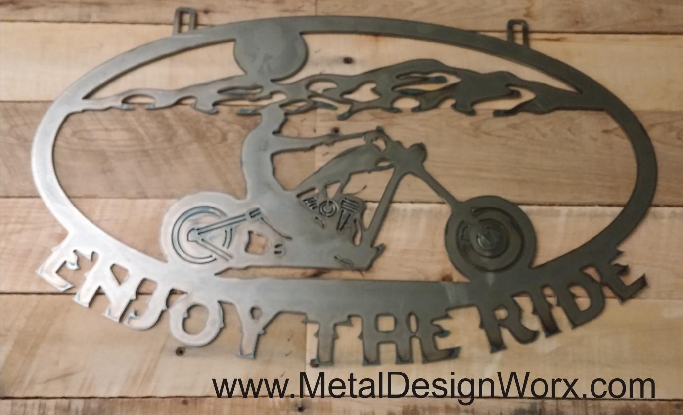 metal motorcycle signs