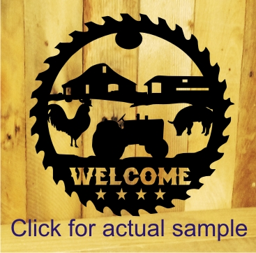 Rustic Home Decor Farm Sign
